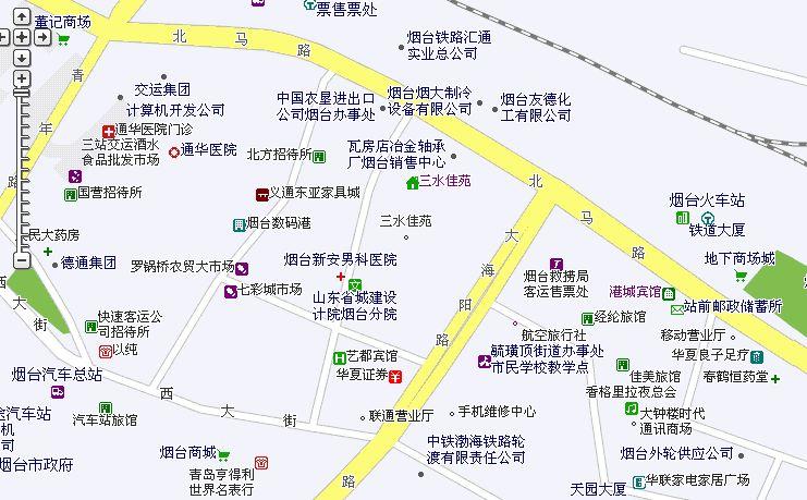 烟台市中心地图